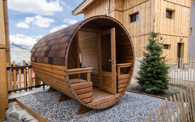 chalet hermine banc sauna