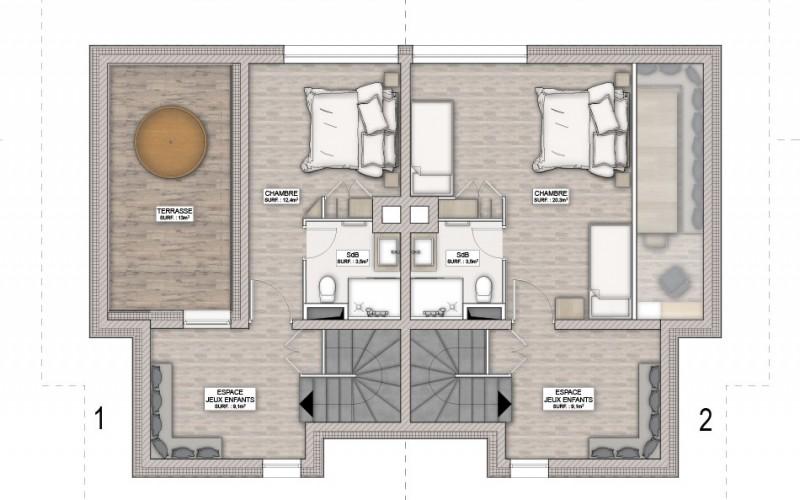 Chalet Hermine floorplan