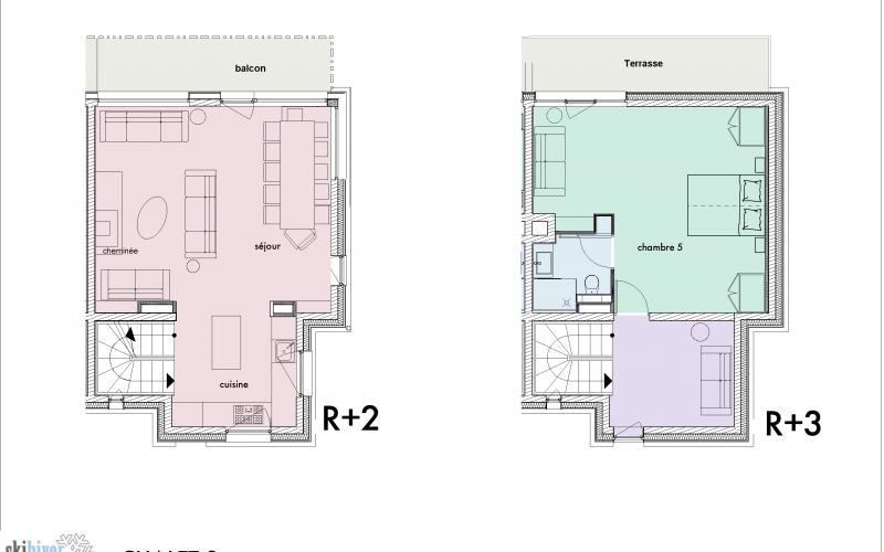 Chalet Lievre Blanc floor plan
